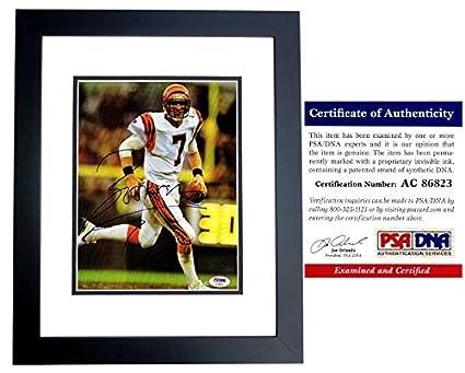 Boomer Esiason Signed - Autographed Cincinnati Bengals 8x10 inch Photo  BLACK CUSTOM FRAME - PSA  503ebed7b