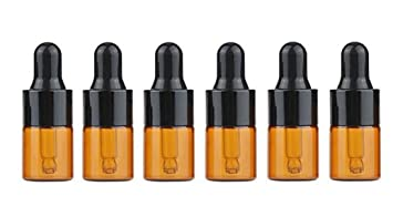 1880976a9fb8 Amazon.com: 6Pcs Amber Glass Dropper Bottles Essential Oil Perfume ...