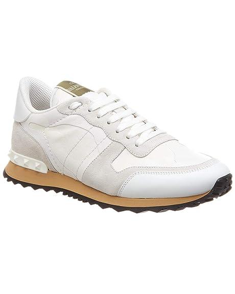 Valentino - Zapatillas para Hombre Blanco Bianco Blanco Size: 43 EU - 9 UK: Amazon.es: Zapatos y complementos