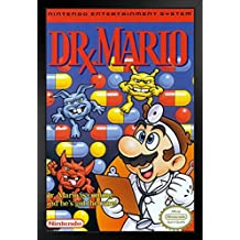 ProFrames Dr Mario Super Nintendo NES Game Series Box Art Yoshi Luigi Princess Print Framed Poster 12x18