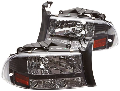 Spec-D Tuning 2LH-DAK97JM-RS Dodge Dakota/Durango Slt Led Headlights Black Left + Right ()