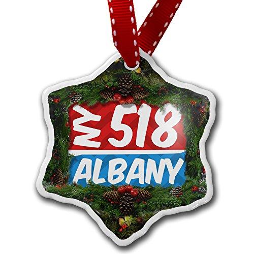 Christmas Ornament 518 Albany, NY red/blue - Neonblond (Ny Albany Christmas Tree)