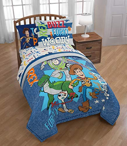 Franco Toy Story 4 Twin/Full Comforter and Reversible Sham Set
