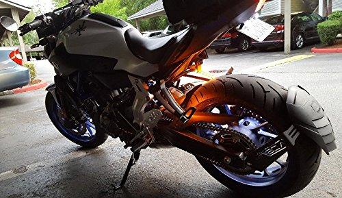 Universal 2pc 5050 Led strip for Motorcycle Bike Amber LED Turn Signal Indicator Blinker light