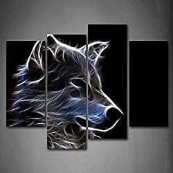 Firstwallart Grey Wolf Wall Art Painting Pictures Print On Canvas Animal The Picture for Home Modern Decoration