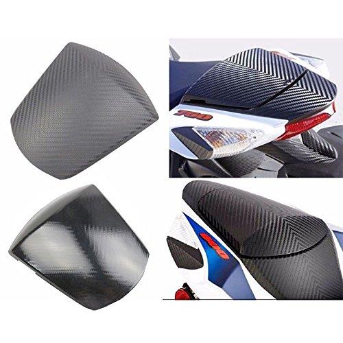 Black Solo Seat Cowl - Carbon Pattern Rear Solo Seat Cowl for 2011-2018 Suzuki GSXR GSX-R 600 750 (Black)