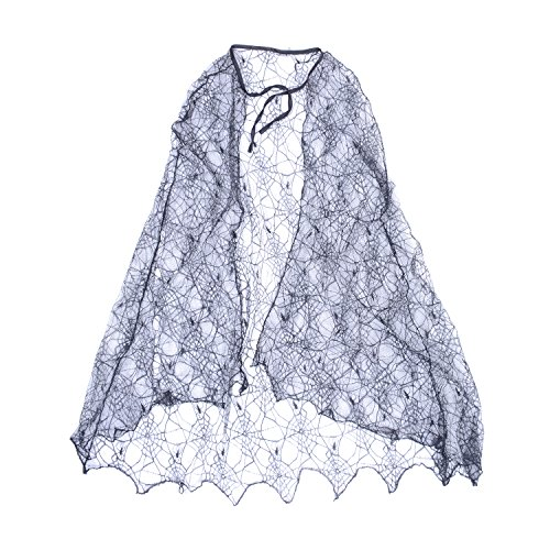 Sexy Adult Women's Gothic Spider Web Cape Party Cosplay Cloak 45inch (Cape)]()