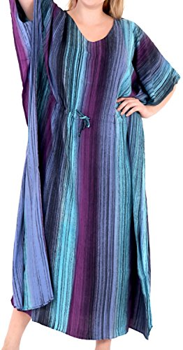 Tie Dye Camisole Dress (LA LEELA Rayon Tie Dye Womens Beach Night Sleep Maternity Cover up Dress Casual Hawaiian 2017 Swimwear Purple)