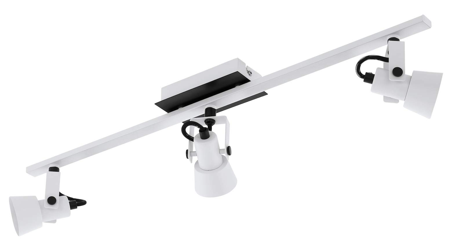 Trillo 3-Light Track Light in White & Black