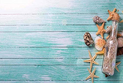 Green Wooden Board and Yellow Starfish Wedding Baby Photography Background Custom Photography Studio Photography Background