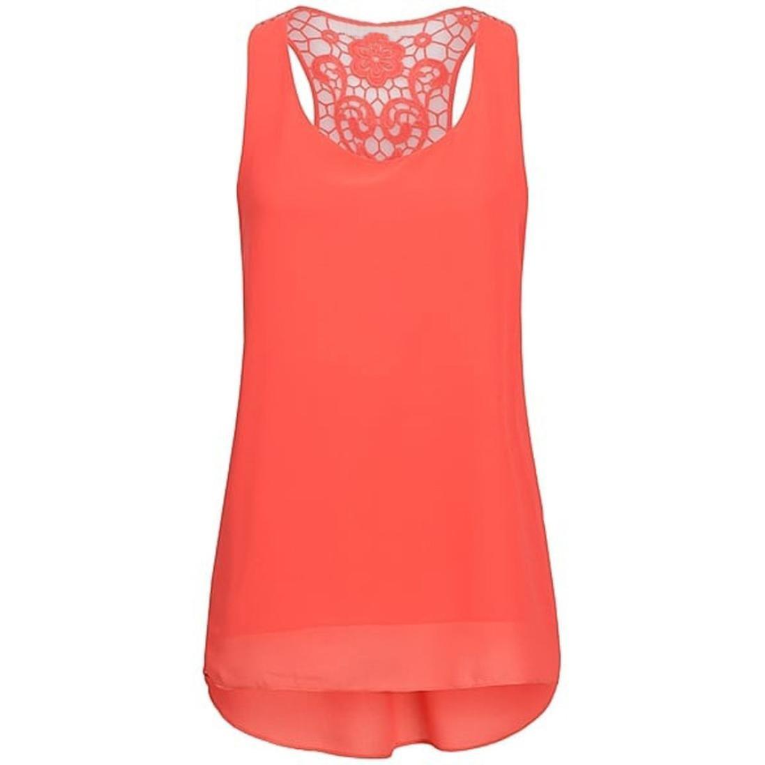 Corsion Women Summer Fashion Sleeveless Chiffon Tunics Tank Top Blouse T  Shirt at Amazon Women s Clothing store