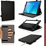 iGadgitz Premium Executive Black PU Leather Case Cover for Samsung Galaxy Tab S2 9.7'' SM-T810 with Multi-Angle Viewing stand + Auto Sleep/Wake + Hand Strap + Screen Protector