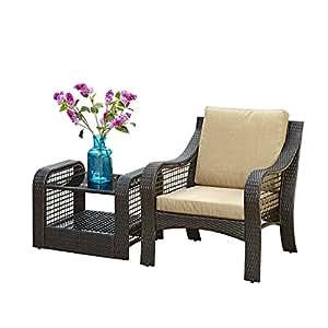 Home styles Lanai Breeze 2piezas Accent silla y final Cuadro