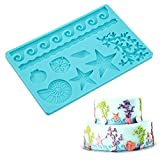 : Fashionclubs Silicone Seashell Sea Life Chocolate/Fondant/Candy Baking Mold For Cake Decor