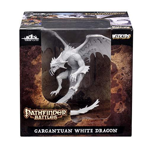 WizKids Pathfinder Deep Cuts Unpainted Miniatures: Gargantuan White Dragon by WizKids (Image #2)