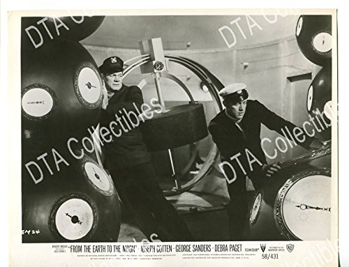 MOVIE PHOTO: FROM THE EARTH TO THE MOON-1958-8 X 10-STILL-FN-SCI-FI-COTTEN-DUBBINS FN