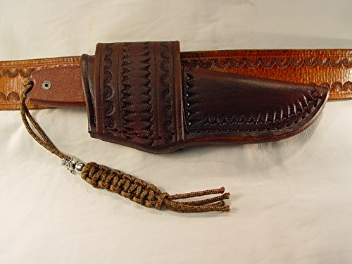 Ontario Rat-3 Leather cross draw custom sheath only no kinfe