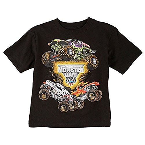 Monsters T Shirts (Monster Jam Boys T-shirt 4-7 (S (4)))