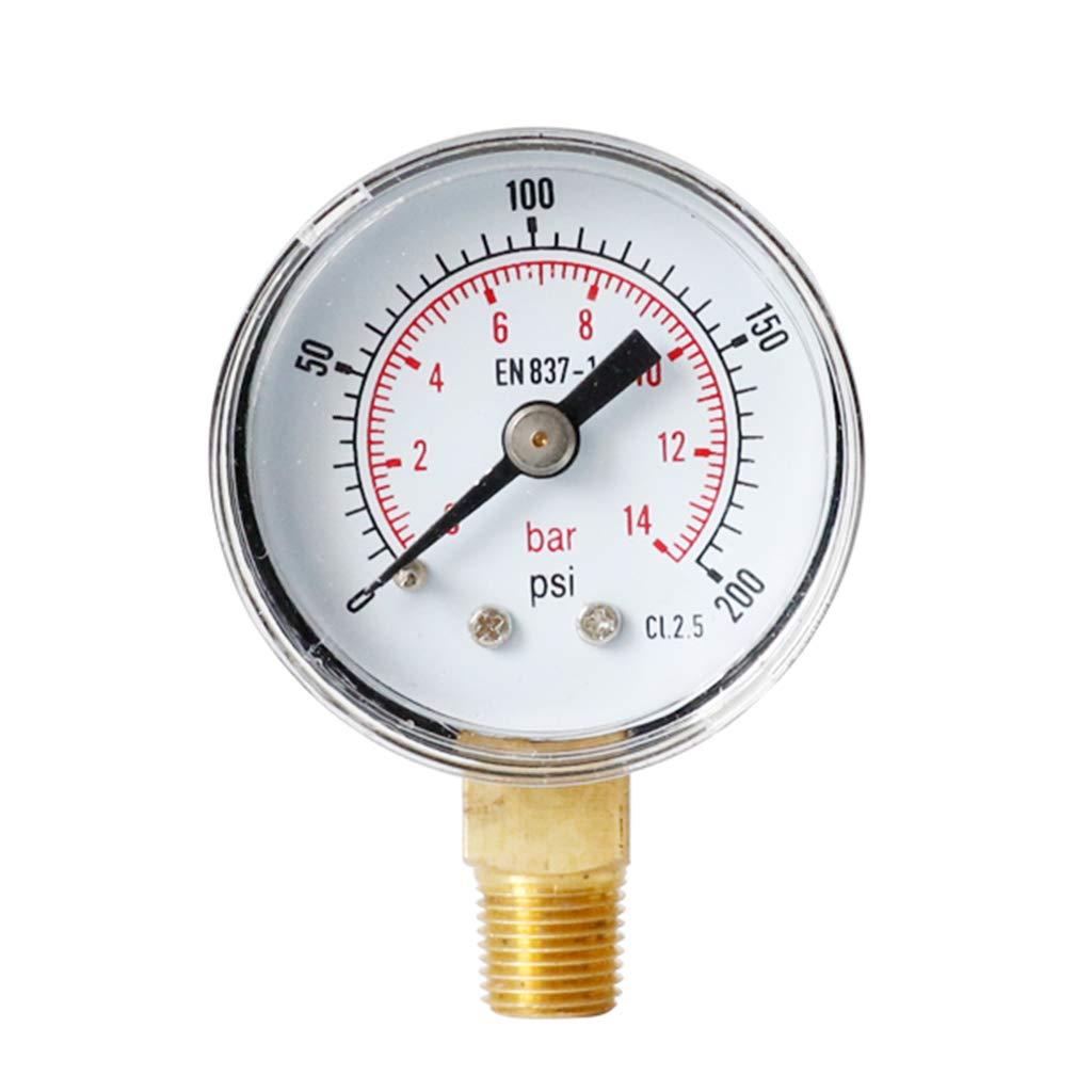Chuiouy Pressure Gauge Vertical Dial 1//8 BSPT 40mm 15,30,60.100,160 200 300 PSI