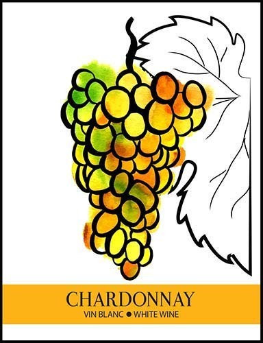 Chardonnay Wine Bottle Labels