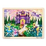 : Melissa & Doug Fairy Fantasy Wooden Jigsaw Puzzle With Storage Tray (48 pcs)
