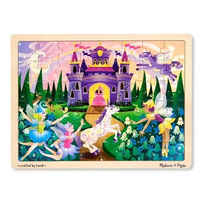 Melissa & Doug Fairy Fantasy Wooden Jigsaw Puzzle With Storage Tray (48 pcs) (Nj Store Garden)