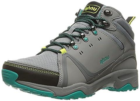 Ahnu Women's Alamere Mid Hiking Boot, Medium Grey, 8 M US - Leather Mid Waterproof Boot