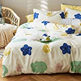 Kids Duvet Cover Set Twin Teal Blue with Black Star Print Soft Cotton Reversible Bedding Sets with Zipper Closure Grey Stripe Pattern Bedding Collection for Children Teens Gift