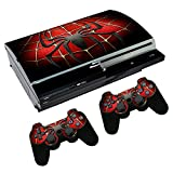 Spider Custom Skin Sticker Set for Original PS3 Playstation 3 Fat Console Controller