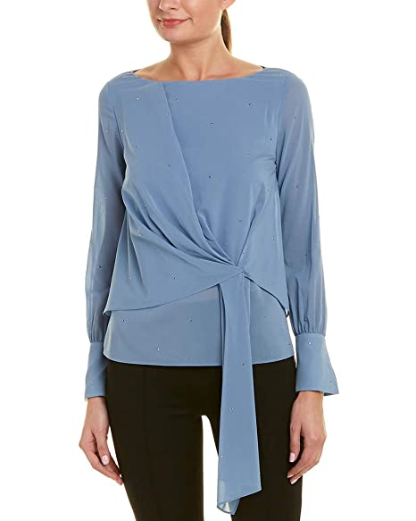 ea0d4c184ca6e Image Unavailable. Image not available for. Color  St. John Womens Silk-Blend  Top ...