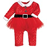 Mud Pie Baby-Girls Newborn Santa Tutu One Piece