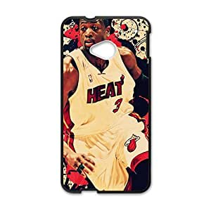 Happy Abstract NBA Basketball Dwyane Wade Miami Heat Phone Case for HTC One M7