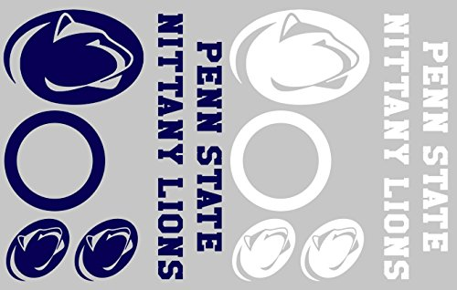 - Penn State Nittany Lions Cornhole Decal Set - FREE circles and 4 FREE Car Window Decals