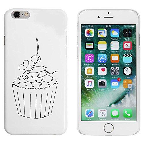 Blanc 'Souris sur un Gâteau' étui / housse pour iPhone 6 & 6s (MC00005102)