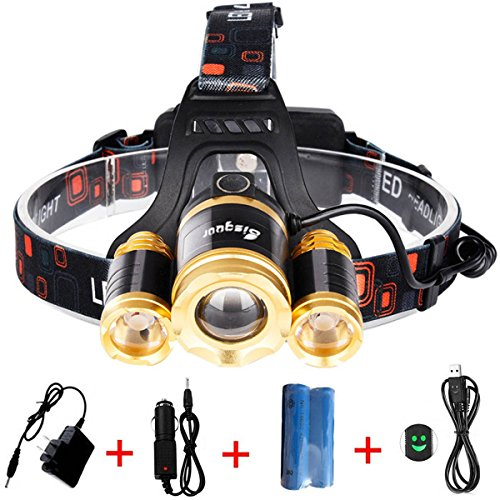 Bisgear 6000 Lumen Led Focusing Headlamp Rechargeable Ultra Bright 3 t6 Cree Headlight Hunting Tools Waterproof Flashlight Mining Light Camping Gear