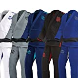 Sanabul Essentials Version 2 Ultra Light BJJ Jiu Jitsu Gi Preshrunk Fabric (A3, Blue) See Special Sizing Guide