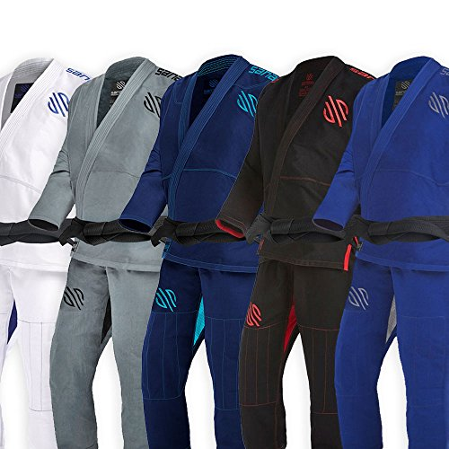Sanabul Essentials V.2 Ultra Light Preshrunk BJJ Jiu Jitsu Gi (Blue, A2) (See Special Sizing Guide) (Best Bjj Gi Brands)