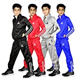 XXR Junior Tracksuit Boys Track Suit Kids Full Zip Jogging Top Bottoms Football Boxing Martial Art Exercise Fitness Yoga Running Gym Clothing (Grey, 11-12 Years)