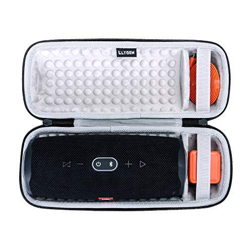 LTGEM Hard Carrying Case for JBL Charge 4/Charge 5 Portable Waterproof Wireless Bluetooth Speaker. Fits USB Cable and Charger.