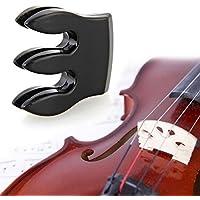 SunSunRise Black 3-Prong Metal Practice Fiddle Mute for Violin Small Viola