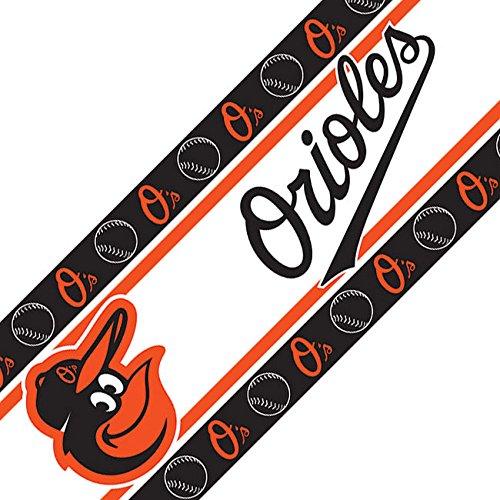 MLB Baltimore Orioles Wall Border, 05 x 15, Multicolor Baltimore Orioles Mlb Wall