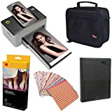 Kodak Dock 4x6'' Printer Starter Bundle + 40 Paper + Case + Photo Album + Sticker Frames