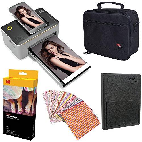 Kodak Dock 4x6'' Printer Starter Bundle + 40 Paper + Case + Photo Album + Sticker Frames by Kodak