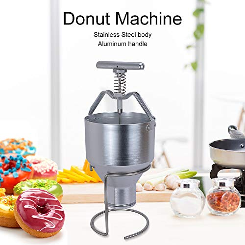 Welljoin Manual Stainless Steel Donut Depositor Dropper Plunger Dough Batter Dispenser Hopper with Stand for Home, Restaurants, Cafeterias, Bakeries by well join (Image #5)