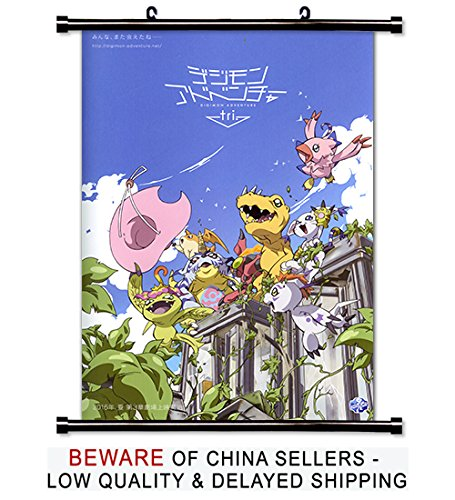 Digimon Adventure Anime Fabric Wall Scroll Poster
