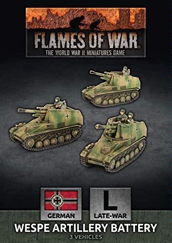 GBX155 German Flames of War Wespe 10.5cm SP Artillery Battery Late War
