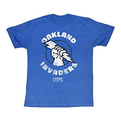 A&E Designs USFL T-Shirt Oakland Invaders Royal Heather Tee, XL