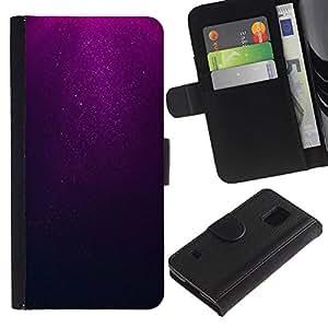 KLONGSHOP / Tirón de la caja Cartera de cuero con ranuras para tarjetas - Underwater Dive Dark Sea - Samsung Galaxy S5 V SM-G900