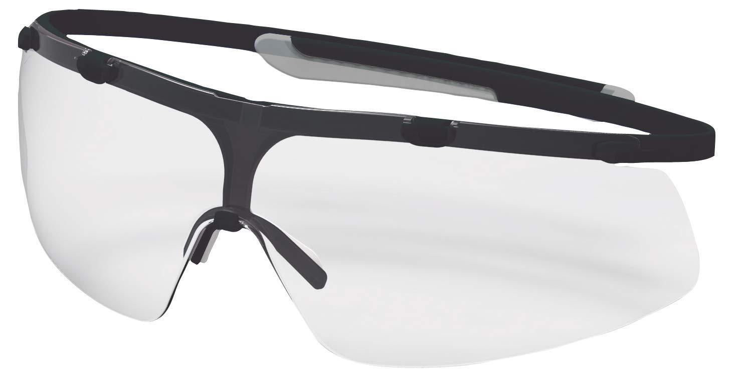Transparent//Schwarz-Grau Supravision Plus Uvex Super G Schutzbrille