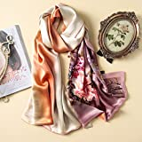 The peony flower scarf silk satin silk shawl, long